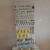 Органайзеры ручной работы. Ярмарка Мастеров - ручная работа Двойной выставочный стенд для украшений. Handmade.