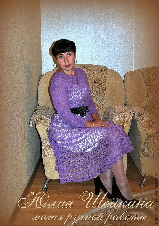 Платья ручной работы. Ярмарка Мастеров - ручная работа. Купить Вязаное платье. Handmade. Мохеровое платье, теплое платье