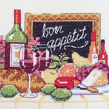 """Картины и панно ручной работы. Ярмарка Мастеров - ручная работа Вышитая картина """"Бон аппетит"""". Handmade."""