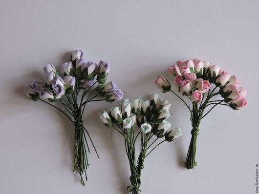 Открытки и скрапбукинг ручной работы. Ярмарка Мастеров - ручная работа. Купить 3 расцветки бутоны роз 6 мм. Handmade.