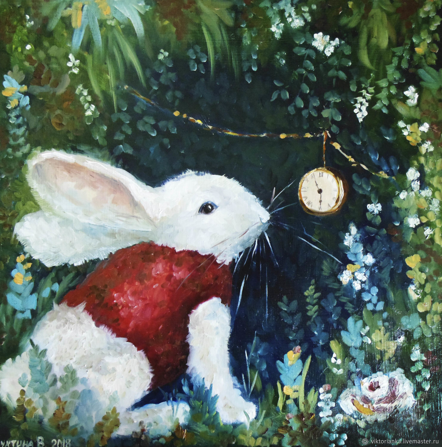 White rabbit oil Painting, Pictures, Moscow,  Фото №1