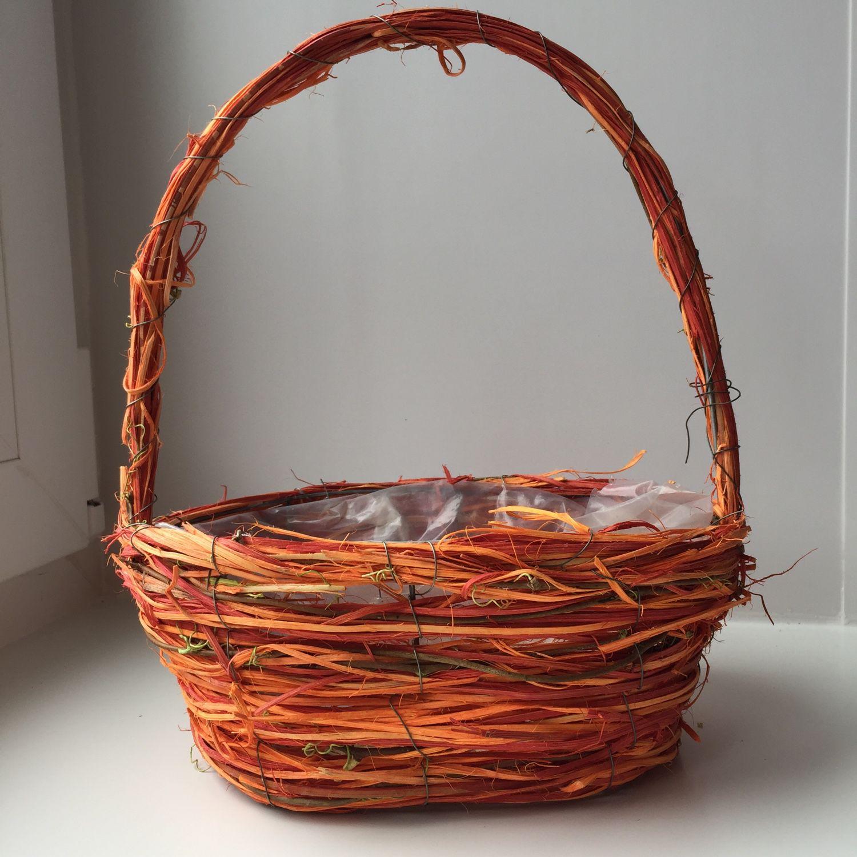 Плетеные корзинки для цветов