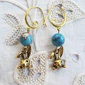 """Украшения handmade. Livemaster - original item Naughty earrings """"Bunny"""". Handmade."""