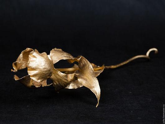 Золотой ирис из стали