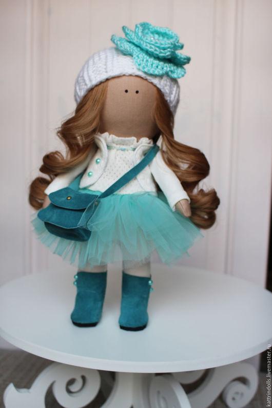 Куклы тыквоголовки ручной работы. Ярмарка Мастеров - ручная работа. Купить Интерьерная кукла. Handmade. Бирюзовый, интерьерная игрушка
