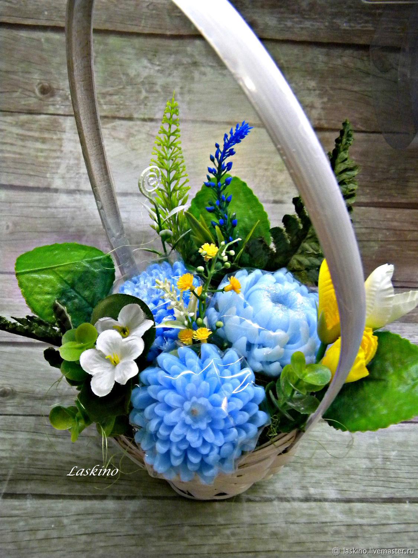 Подарочный букет из косметики, подарок из живых цветов на голову купить москва
