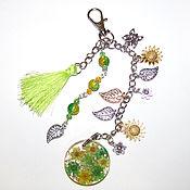 Сумки и аксессуары handmade. Livemaster - original item Bag Decoration Keychain Pendant with Flowers in resin 16 cm. Handmade.