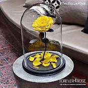 Цветы и флористика ручной работы. Ярмарка Мастеров - ручная работа Желтая роза в колбе. Handmade.
