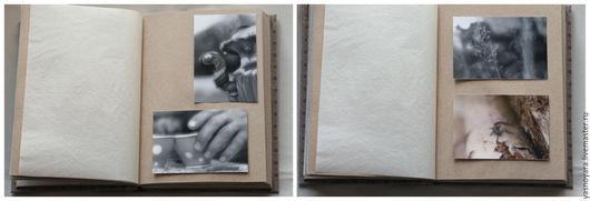 Фотоальбомы ручной работы. Ярмарка Мастеров - ручная работа. Купить Фотоальбом Воспоминания (с крафт-листами). Handmade. Коричневый