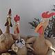 Игрушки животные, ручной работы. Три курицы в лодке. Елена Никитина. Ярмарка Мастеров. Пасхальный сувенир, солёное тесто