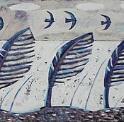 Картины и панно ручной работы. Ярмарка Мастеров - ручная работа Ветер на озере. Handmade.