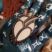 Украшения handmade. Livemaster - original item Mirror Heart Brooch. Handmade.