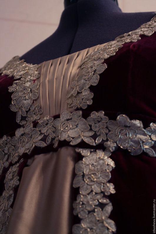 Платья ручной работы. Ярмарка Мастеров - ручная работа. Купить Ампир платье бархатное. Handmade. Золотой, бархатное платье