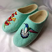 """Обувь ручной работы. Ярмарка Мастеров - ручная работа Тапочки женские """"Колибри"""".. Handmade."""