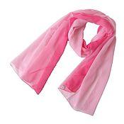 Винтаж handmade. Livemaster - original item Delicate pink scarf with a