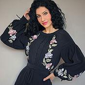 Одежда handmade. Livemaster - original item Luxury dress with hand embroidery