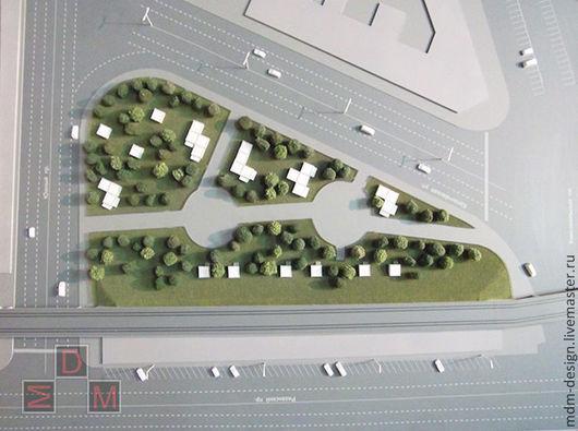 Макет проекта `Комсомольская площадь`, выполнен в концептуальной манере.