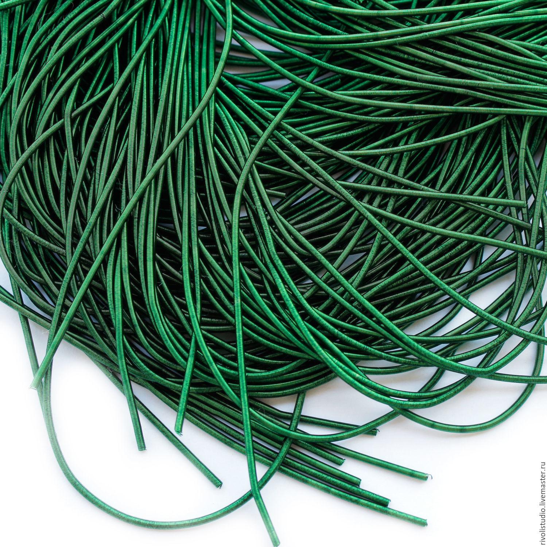 Канитель 1 мм мягкая, К-24, темно-зеленая, Вышивка, Санкт-Петербург, Фото №1