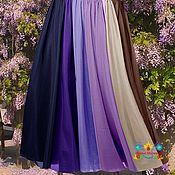 """Одежда ручной работы. Ярмарка Мастеров - ручная работа Фиолетовая юбка в пол 12-клинка """"Глициния"""". Handmade."""