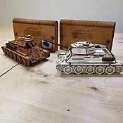 Подарочные боксы ручной работы. Ярмарка Мастеров - ручная работа Конструктор Танк Т34-шкатулка. Handmade.