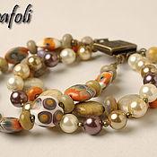 Украшения handmade. Livemaster - original item Bracelet coral with pearl. Handmade.