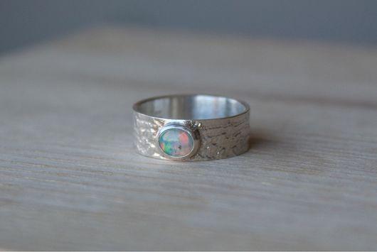 """Кольца ручной работы. Ярмарка Мастеров - ручная работа. Купить кольцо """"Gojeb"""", серебро, натуральный эфиопский опал. Handmade. Кольцо"""