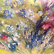 Картины и панно handmade. Livemaster - original item Lilac daisies. Handmade.