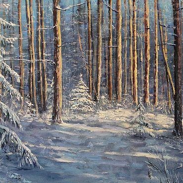 Картины и панно ручной работы. Ярмарка Мастеров - ручная работа Зимнее солнце. Handmade.
