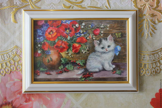 Животные ручной работы. Ярмарка Мастеров - ручная работа. Купить Котята. Handmade. Комбинированный, Кошки, Живопись, акварельная бумага