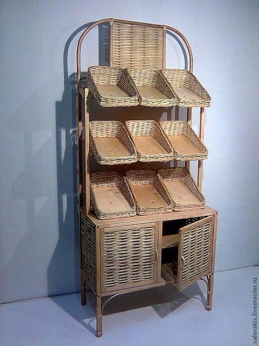 Мебель ручной работы. Ярмарка Мастеров - ручная работа. Купить Стеллаж для магазинов. Handmade. Бежевый, ивовая лоза