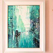 Картины и панно handmade. Livemaster - original item Glass City 2. Handmade.