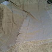 Для дома и интерьера ручной работы. Ярмарка Мастеров - ручная работа покрывало  льняное. Handmade.