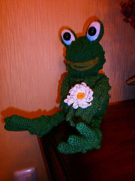 Игрушки животные, ручной работы. Ярмарка Мастеров - ручная работа. Купить Жабка романтическая. Handmade. Тёмно-зелёный, романтическая жаба