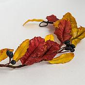 Украшения ручной работы. Ярмарка Мастеров - ручная работа Венок для осенней утонченной натуры, ручная работа, листья, ягоды. Handmade.