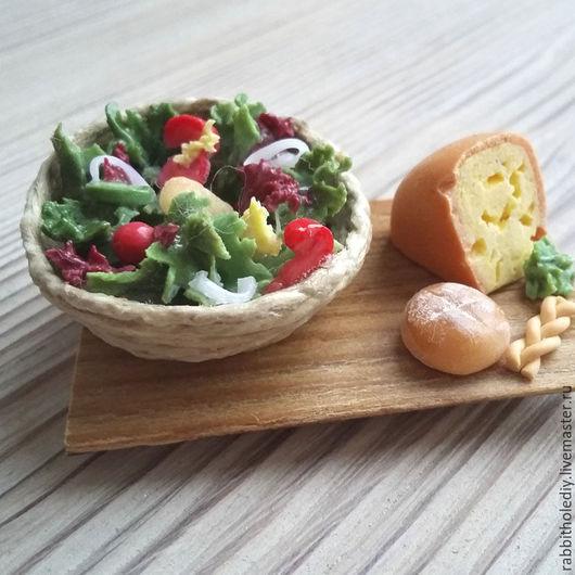 """Магниты ручной работы. Ярмарка Мастеров - ручная работа. Купить Магнит на холодильник """"Итальянский салат"""". Handmade. Комбинированный, кулинарный сувенир"""