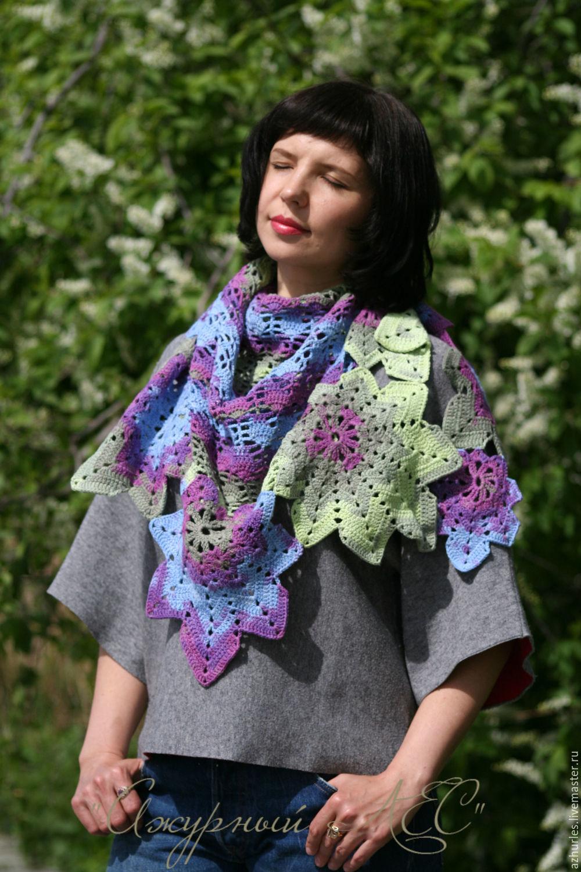 Shawl For Woman Crochet Wrap Stole Knit Shawl Womens Scarf, Shawls, Ekaterinburg,  Фото №1