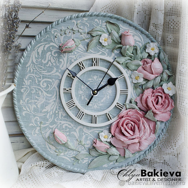 Clock 'Catherine' Sculptural painting, Watch, Ufa,  Фото №1