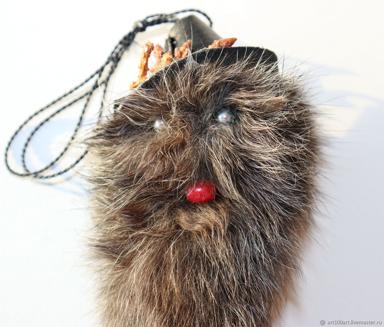 Брелок для сумки мех кролика