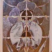 Для дома и интерьера ручной работы. Ярмарка Мастеров - ручная работа Витраж в окно-свечение рассвета.Художественный витраж,витраж высокохуд. Handmade.