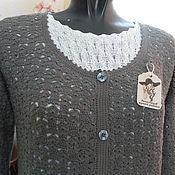 Одежда ручной работы. Ярмарка Мастеров - ручная работа кардиган ажурный. Handmade.