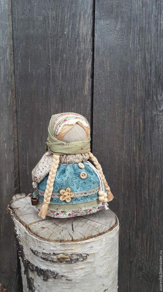 """Народные куклы ручной работы. Ярмарка Мастеров - ручная работа. Купить Кукла-оберег """"Девочка с ведерком"""". Handmade. Синий"""
