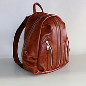 Сумки и аксессуары handmade. Livemaster - original item Backpack leather city 25. Handmade.
