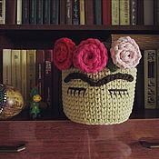 """Корзины ручной работы. Ярмарка Мастеров - ручная работа Корзина вязаная """"Фрида Кало"""". Handmade."""