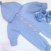 Работы для детей, handmade. Livemaster - original item Knitted overalls for newborns. Handmade.