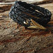 Украшения handmade. Livemaster - original item Men`s bracelet,arrow Bracelet ,Black bracelet. Handmade.