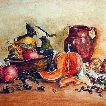 """Картины и панно ручной работы. Ярмарка Мастеров - ручная работа Картины: Желтый, оранжевый. """"Осень в Тоскане"""". Handmade."""