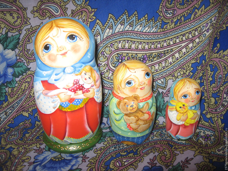"матрешка 3 места ""Дети и Ангел хранитель"", Матрешки, Красногорск, Фото №1"