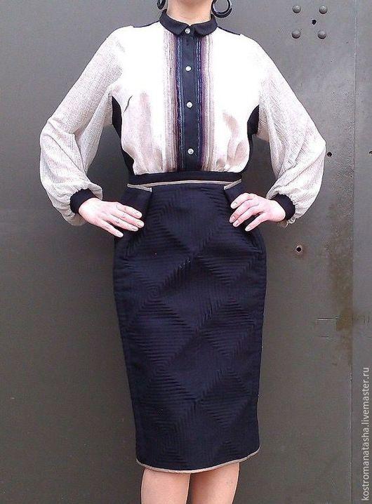 Юбки ручной работы. Ярмарка Мастеров - ручная работа. Купить юбка утепленная Героиня. Handmade. Черный, юбка карандаш