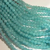 Beads1 handmade. Livemaster - original item Malay blue jade, cut, 4 mm. for PCs. Handmade.