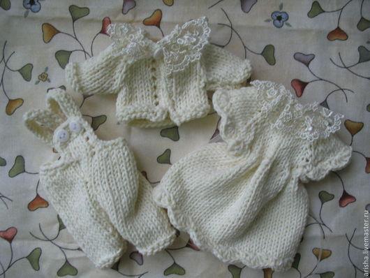 Одежда для кукол ручной работы. Ярмарка Мастеров - ручная работа. Купить Набор для мини-мишек 4. Handmade. Кофточка, для кукол